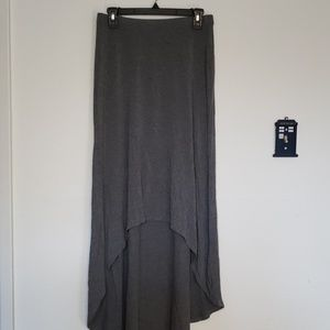Halogen Maxi Skirt Hi/Lo Grey
